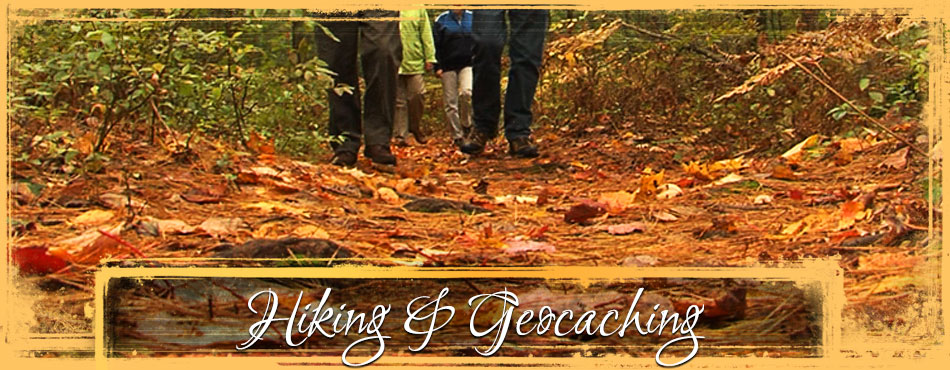 Hiking and geocaching