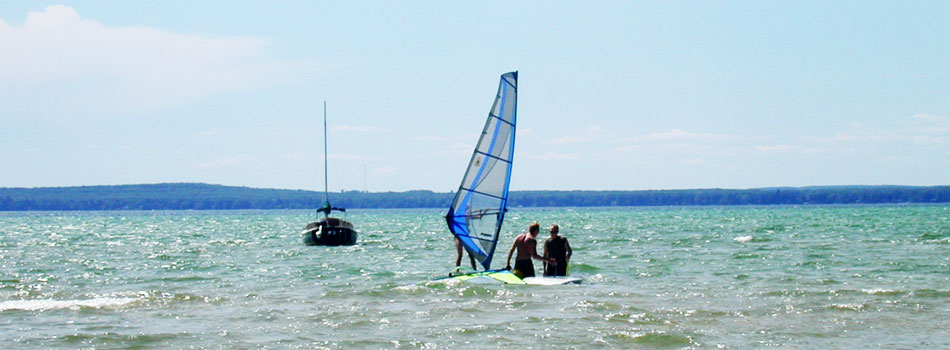 Wind Surfing on Higgins Lake