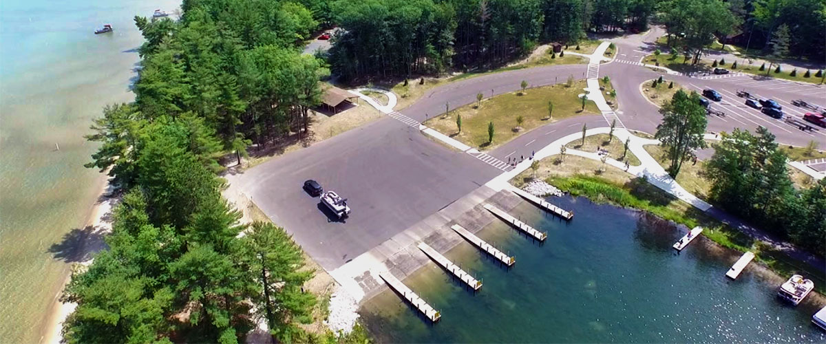 Boat Launch at South Higgins Lake State Park